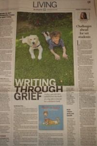 Oregonian Article, Bash and Lucy Fetch Confidence